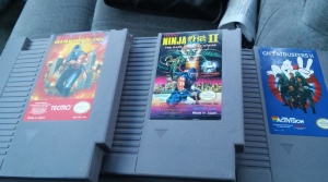 Typical game haul from a game store. This was at GameBusters in Granite City, IL.
