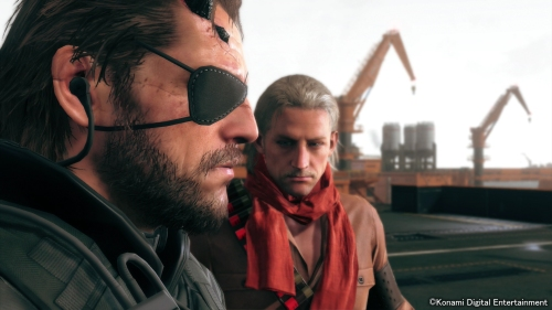 Ocelot busts into the Big Boss and Kaz bromance to make one big bromance triangle.